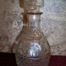 Vintage CROWN ROYAL whiskey decanter cap stopper diamond pattern glass bottle GC