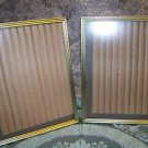 "2 matching gold metal photo picture frames 5x7"" easel table top wall mid century"