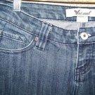 WET SEAL denim blue skinny stretch jeans low rise women junior 5 dark wash pants