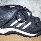 ADIDAS size 7 baseball softball sports cleats black white athletic GUC shoes