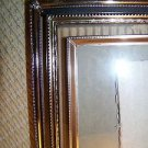 "3 embossed detail 8x10"" gold metal photo picture frame easel table top wall deco"