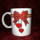 Hearts & bows CHRISTmas gift present mug coffee tea cocoa cup Valentines Day GC