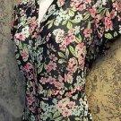 SAG HARBOR Petite semi sheer flora cap sleeve button down blouse PS feminine GUC