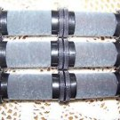 """6 hot roller curler 1"""" replacements fit Remington H1090 black gray wax flocked"""