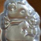 WILTON vintage 1977 CUDDLY TEDDY KOALA BEAR metal molded cake pan birthday party