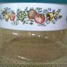 """Vintage retro PYREX clear glass canister Spice of Life vegetable pattern 4x6"""" v"""