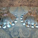 2 ANCHOR HOCKING boopie berwick bubble candle stick taper holders clear glass