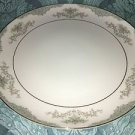 "MIKASA Minuet 209 Japan china platter round 12"" elegant blue scroll fan flowers"
