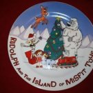 RUDOLPH red nose Island of Misfit Toys collectible plate NIB cookies Santa 8""