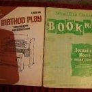 Wurlitzer Organ #2 '57 Method Play #6 '70 music books Glover Clark vintage used