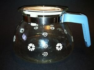 Gemco replacement coffee maker pot pourer server 8 cup carafe lid blue handle GC