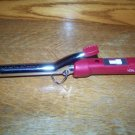 "VIDAL SASSOON 3/4"" barrel hot curling iron tight curl adjustable hi lo heat red"