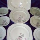 Lot of antique NEW YORKER by SALEM square plates platter saucers shabby chic