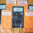 "8 HALLOWEEN party deco 4 orange 4 black tablecovers rectangle 54x108"" vinyl NIP"