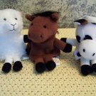 Easter basket filler story teller finger puppets farm animal horse cow sheep toy