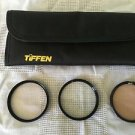 Lot 58mm camera filter lenses case TIFFEN 812 UV protection QUANTARAY 1A used