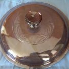 "Glass pan casserole dish lid approx 6"" VISIONWARE Pyrex replacement piece amber"