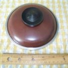 "Vintage aluminum CLUB sauce pan pot lid top replacement  5.75"" brown heavy duty"