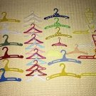 Lot 31 vintage doll clothes hangers plastic assorted size colors lot accessories