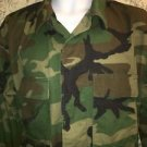 US Army BDU Woodland Coat Jacket Size Medium Regular 8415-01-084-1647 green camo