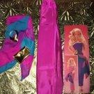 Vintage BARBIE doll formal reversible gold trim accessor wrap dress sash shawl