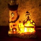 "SANTA'S WORKBENCH Butler's Wharf lighthouse lighted 12"" high metal detail GUC"