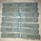 """Lot of 14 old style brush spring mesh hair curlers rollers lt blue approx 2x.5"""""""