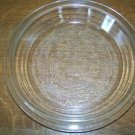 GLASBAKE 56 pie dish plate 1.5 qt casserole dish cover lid vintage clear glass