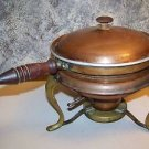 Vintage copper brass chaffing dish food warmer complete 5 piece shabby chic deco