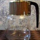 Vintage CORY stove top gold pattern 8 cup glass coffee pot Eames era atomic GVC