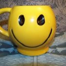 Vintage McCoy pottery ceramic yellow smiley face coffee cup mug retro kitchen