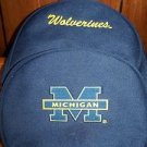 Boy girl MICHIGAN U of M lunch box bag tote mini back pack style EUC blue & gold