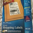 AVERY 8126 white sticker shipping labels 5.5x8.5 25 sheet 50 labels USPS UPS nip