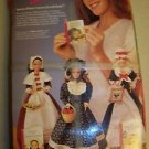 American Stories Pioneer BARBIE doll Western Promise '94 vtg book clothes basket