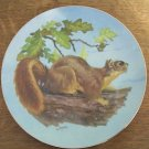 LEE LE BLANC porcelain hand painted numbered plate fox squirrel gold rim #804 EC