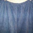 CAROLE cotton pajamas pjs lounge pants top nappy texture warm woman plus 2X blue