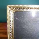 Vintage gold metal embossed photo picture frame 8x10 scrolled corner mid century