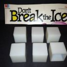 6 DON'T BREAK THE ICE board game replacement ice cubes pieces plastic parts GUC