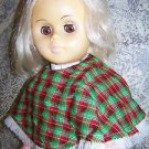 "Vintage 67 UNEEDA doll good condition sleeping eyes pants poncho 20"" tall blonde"