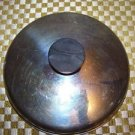 "Small saucepan lid top 7.25"" round stainless steel stay cool handle vintage used"