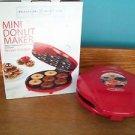 BELLA CUCINA Artful Food Mini Donut bake not fry red doughnut Maker quick easy