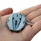 Portable Multifunction Folding Plier,Stainless Steel Foldaway Knife Keychain Screwdriver,Campin