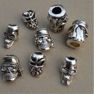outdoor EDC skull pendant straps falling knife flashlight umbrella rope bracelet pendant DIY 1