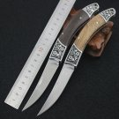 7CR17MOV Steel Blade Browning Folding Knife Wood Handle Survival Knifes Hunting Camping Tactica