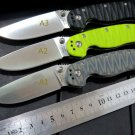 sale . Custom Hunting Folding Knife With Sand Light Surface 9CR Blade G10 Handle Camping Outdo