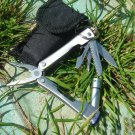 Outdoor Foldable Multifunction Multiple Tools Mini Stainless Steel Screwdriver Pliers Knife LED