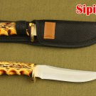high quality manual small straight knife Outdoor camping hunting knife sharp Ebony handle The c