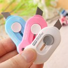 Cute Color Mini Portable Utility Knife Paper Cutter Cutting Paper Razor Blade Office Stationery