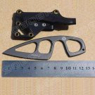 BK Small Straight Knife with ABS Sheath Gift Pocket Knife Black Survival Knife BC493