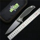 Green thorn F95 Flipper folding knife bearing D2 blade TC4 Titanium carbon fiber  handle outdoo